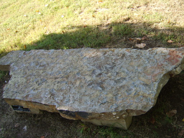 Nashville natural stone bench large slab