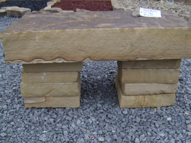 thick natural stone bench nashville area